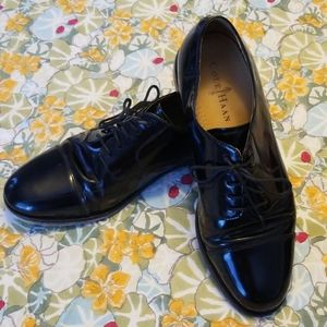 Mens Sz 9 Cole Haan Patent Leather Dress Shoes